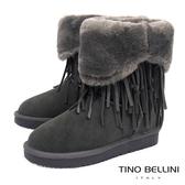 Tino Bellini波西米亞毛領雪靴_灰  B69048