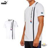 Puma BMW 白 男 短袖 T恤 運動上衣 棉T 短袖 衛衣 運動 休閒 上衣 57665402