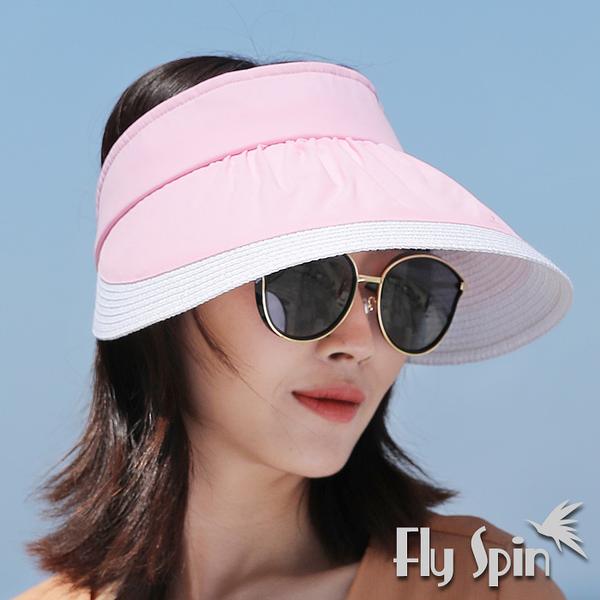 遮陽帽子-大帽眉防曬抗UV遮陽空心帽18SS-V001 FLY SPIN