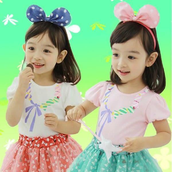 韓版《印花項鍊款》甜美短袖上衣