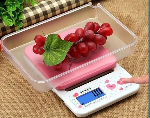 (附電池)可愛粉紅 3公斤電子秤【E011】冷光 料理秤 扣重歸零 秤食物 迷你台秤 烘焙秤 廚房秤