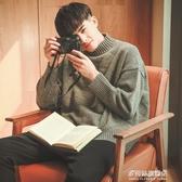 毛衣男-毛衣男士韓版寬鬆慵懶風潮流春秋款半高領針織衫外套冬季個性加厚 多麗絲