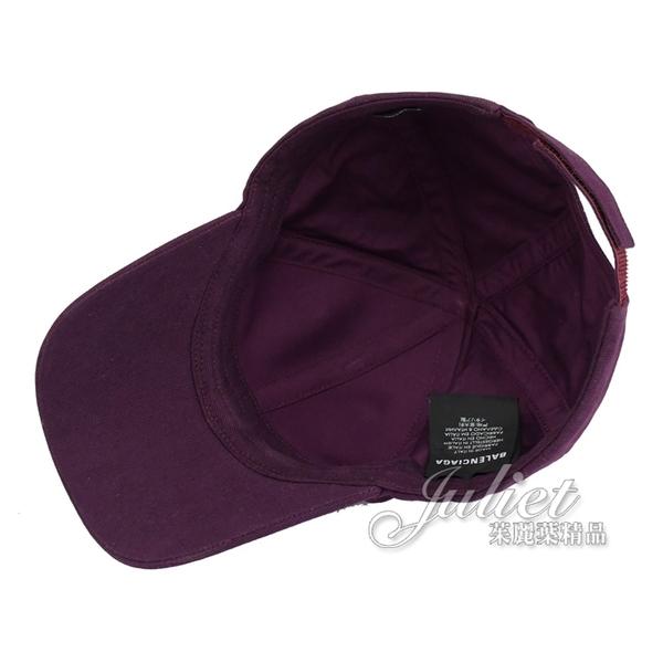 茱麗葉精品【全新現貨】BALENCIAGA 巴黎世家 577548 帽沿刺繡LOGO 棉質棒球帽.深紫