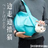 寵物單肩包外出便攜貓袋透氣貓咪手提袋尼龍布手拎袋子貓咪用品 印象家品旗艦店