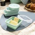 輕巧摺疊餐盒400ml-薄荷綠-生活工場