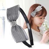 618好康鉅惠 發飾布藝蕾絲百搭頭箍蝴蝶結發箍韓國簡約