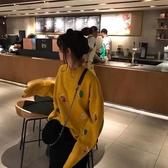 秋季2019新款 很仙的毛衣女胖MM寬鬆針織衫外套頭上衣慵懶風潮LA195【毛菇小象】