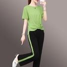 寬管褲運動套裝女夏裝2021新款時尚韓版顯瘦薄款棉麻休閒兩件套潮 設計師