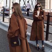 2018春秋裝韓版女裝加厚中長款流行呢子大衣
