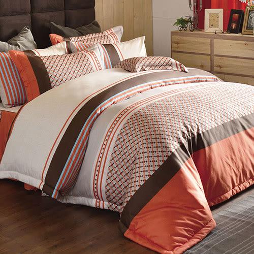 床罩組/雙人加大-6x6.2尺-中式全套-100%純棉-[節奏暢想]-68112-(好傢在)