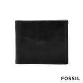 FOSSIL BECK 側縫線裝飾零錢好收納皮夾-黑色 ML4135001