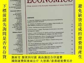 二手書博民逛書店LABOUR罕見ECONOMICS 2019年10月 英文版Y42402