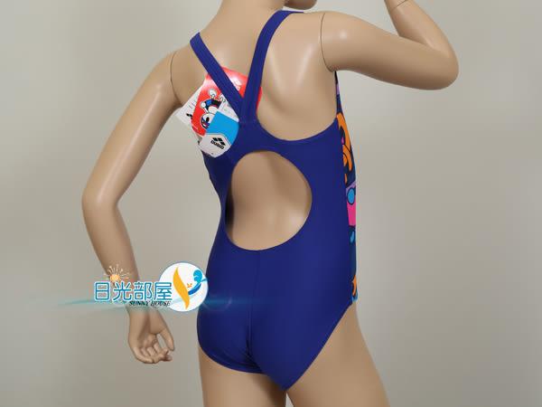 *日光部屋* arena (公司貨)/ JSS-6410WJ-NVY 女童連身泳裝