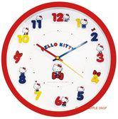 日本限定 三麗鷗 HELLO KITTY 可愛立體數字 連續秒針 壁掛時鐘