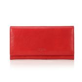 《高仕皮包》【免運費】OMC 原皮質感簡約式長夾.原皮色.蘋果紅OMC95113-05