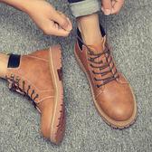 馬丁靴英倫高筒工裝鞋復古短靴潮流軍靴男鞋