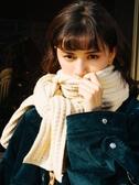 圍巾女冬季韓版百搭日系學生少女復古長款保暖毛線針織圍脖潮 新年禮物