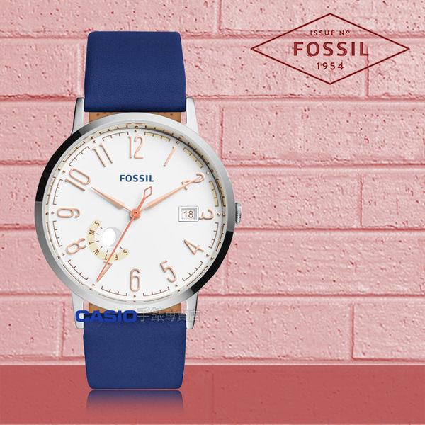 FOSSIL 手錶 專賣店 ES3989 女錶 石英錶 皮革錶帶 防水 強化玻璃鏡面 全新品 保固一年 開發票