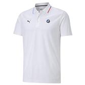 Puma BMW 白色 男款 短袖 POLO衫 上衣 運動 高爾夫 排汗 棉質 透氣 短袖 polo衫 59800602