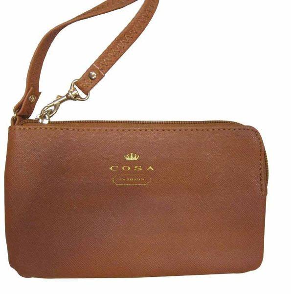 ~雪黛屋~C.O.S.A.化妝包可放5吋手機零錢分類手拿包進口專櫃進口超輕防水防刮皮革材質CU136-643