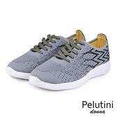 【Pelutini】donna超透氣時尚綁帶輕量時尚慢跑鞋  灰色(0126W-GRY)
