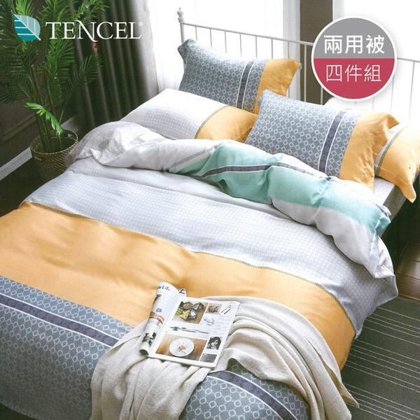 【R.Q.POLO】天絲TENCEL系列-青春情懷(兩用被床包四件組-雙人標準5尺)