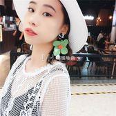 耳環  歐美大氣質韓國花朵珍珠長款耳環女個性復古潮人耳飾  瑪奇哈朵