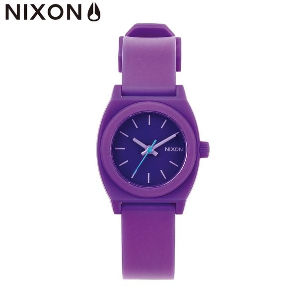 NIXON手錶 原廠總代理 A425-230 The small teller p紫色 潮流時尚膠錶帶 男女 運動 生日 情人節禮物