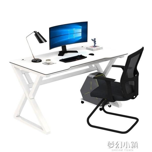 簡易電腦台式桌簡約書桌臥室電競桌家用電腦桌學生學習桌子寫字台 ATF 夢幻小鎮