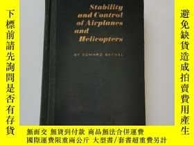 二手書博民逛書店Stability罕見and control of airplanesand helicopters(飛機與直升飛
