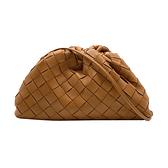 【台中米蘭站】全新展示品 BOTTEGA VENETA The Mini Pouch 編織斜背雲朵包(棕)
