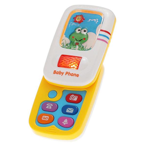 Frog 炫光智慧小手機 寶寶手機 音樂學習手機 滑蓋小電話 益智玩具 0132 好娃娃