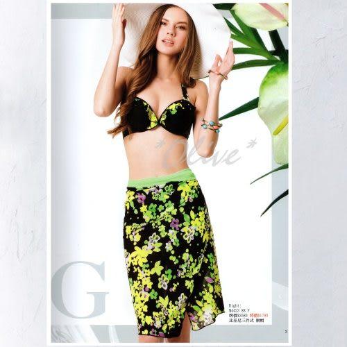 ☆小薇的店☆梅林品牌【夏日繽紛花朵】時尚三件式鋼圈比基尼泳裝特價990元NO.M4423(F)