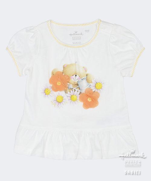 【特惠6折】Hallmark Babies Forever Friends泡泡袖荷葉邊短袖上衣 FD1-Y21-01-KG-MW