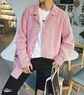 FINDSENSE Z1 韓國 時尚 潮 男 複古 翻領 寬鬆 細條紋 長袖襯衫