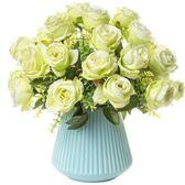【好康618】歐式仿真花束絹花套裝擺件客廳餐桌假花