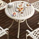 莉維亞歐風鋁製四人圓桌 (單個)
