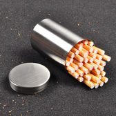 50支裝煙盒不銹鋼手捲煙桶全金屬大容量煙絲罐車載煙灰盒儲物盒子