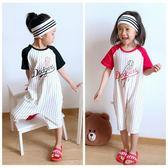 兒童連身衣寶寶卡通嬰兒哈衣男童6女童5中大童4夏季3短袖睡衣2歲 芭蕾朵朵