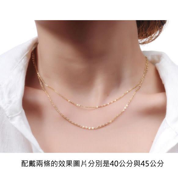 ╭☆ gold shop ☆╯義大利 585項鍊 長度45公分 各種尺寸皆可詢問 [ kn 010 ]-寬1mm