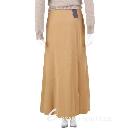 SIMULTANEOUS 駝色拼接設計長裙 0510887-02