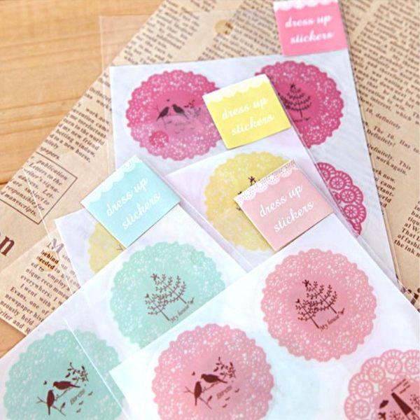 文具【PMG012】浪漫蕾絲透明貼紙 貼紙 文具貼紙 禮物貼紙 裝飾貼紙 卡片貼紙 可愛貼紙-123ok