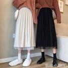 白色長裙高腰a字半身裙女2021年新款春款黑色中長款裙子冬裙 蘿莉新品