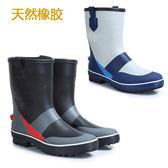 時尚雨鞋男 中筒 防水防滑套鞋 防臭透氣天然橡膠 釣魚靴環保柔軟「Top3c」