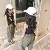 女童運動套裝 女童套裝夏裝新款中大童夏季洋氣兒童時髦背心女孩休閑兩件套 快速出貨