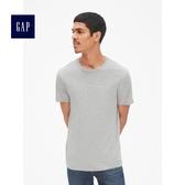 Gap男裝 簡約純色圓領短袖T恤 440775-淺麻灰色