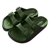 HOLA 兒童室內舒適拖鞋軍綠18