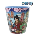 【SAS】日本限定 ONE PIECE 航海王 海賊王 和之國 魯夫 夥伴櫻花版 兒童水杯 / 杯子 250ml