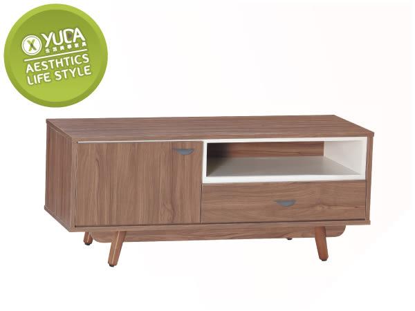 【YUDA】蘿拉 4尺 簡約 波麗漆 松木 實木 電視櫃/長櫃J8S 176-3