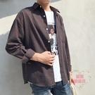 外套男 港風條紋襯衫男士長袖寬鬆韓版外套休閒日系ins超火襯衣潮流男裝